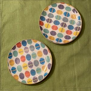 Two Easter Egg Themed Plates